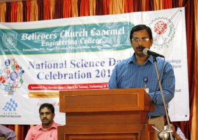Addressing the students on National Science Day