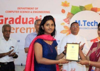 Distributing the certificates to the Engineering Post Graduate students