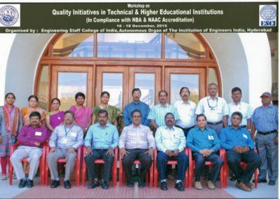 At ESCII Hyderabad, Quality in Education Workshop